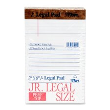 <strong>Tops Business Forms</strong> The Legal Pad Jr. Ruled Perforated Pads, 50 Sheet Pads, 12/Pack