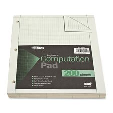 Engineering Computation Pad, Quadrille Rule, Letter, 200 Sheets/Pad