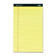Docket Ruled Perforated Pads, Legal Rule/Size, 50 Sheets, 12-Pack