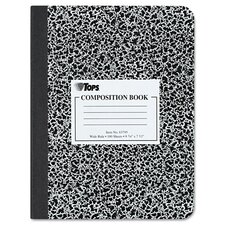 Composition Book W/Hard Cover, Wide Rule, 100 Sheets/Pad