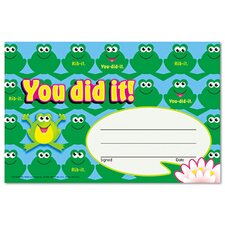 Recognition Awards, You Did It--Frogs, 30/Pack