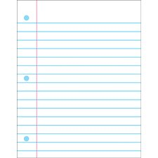 Wipe-off Chart Notebook Paper