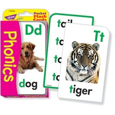 Pocket Flash Cards Phonics 56-pk