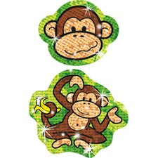 Sparkle Stickers Lively Monkeys