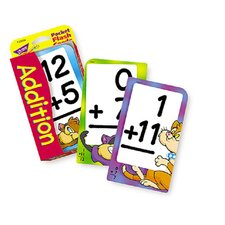 Pocket Flash Cards Addition 56-pk