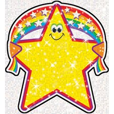 Sparkle Accents Rainbow Star 24/pk