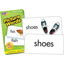 <strong>Trend Enterprises</strong> Flash Cards Picture Words 96/box