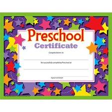 Preschool Certificate 30/pk