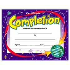 Certificate Of Completion 30/pk