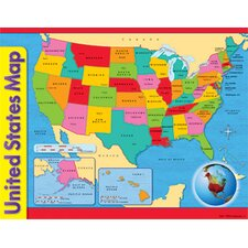 <strong>Trend Enterprises</strong> Chart Usa Map 17 X 22 Gr 1-8