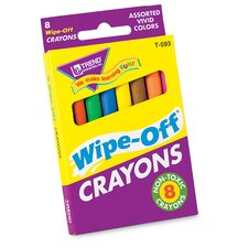 Wipe-off Crayons Regular 8/pk
