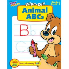 Animal Abcs 28pg Wipe-off Books