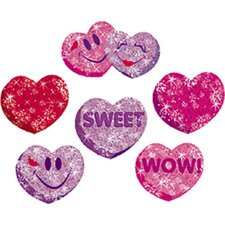 Sparkle Stickers Heart Hoorays