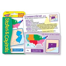 Pocket Flash Cards 56-pk States And