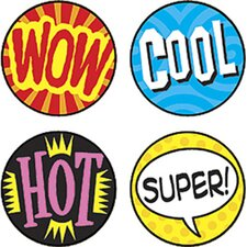 Superspots Stickers Wow Words