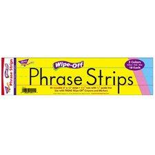 Wipe-off Sentence Strips Multicolor