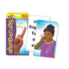 Pocket Flash Cards Sign Language