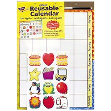 Wipe-off Reusable Calendar 17x22