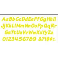 Ready Letters 4 Inch Italic Yellow