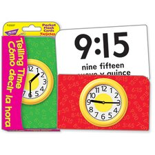 <strong>Trend Enterprises</strong> Pocket Flash Cards Telling Time