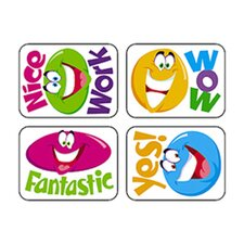 Applause Stickers Smiley 100/pk