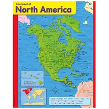 Chart Continent Of North America