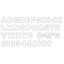 Ready Letters 4 Inch Casual White