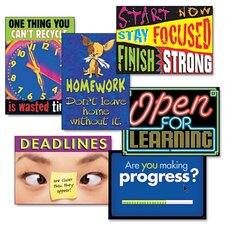 "Assorted ""Motivation"" Themed Scholastic Prints, 6/Pack"