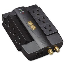 <strong>Tripp Lite</strong> Direct Plug-In Home/Business Theater Surge Suppressor, 6 Outlets