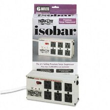 <strong>Tripp Lite</strong> Isobar Surge Suppressor Metal, 6 Outlet, 6Ft Cord, 3330 Joules