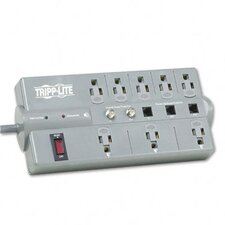 Surge Suppressor, 8 Outlet, Rj11, Coax, 8Ft Cord, 2160 Joules