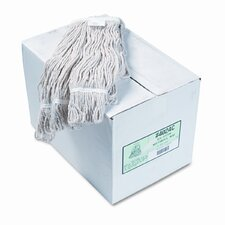 Pro Loop Web/Tailband Wet Mop Head, Cotton, 12/Carton