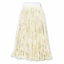 Premium Cut-End Wet Mop Heads, Cotton, 12/Carton