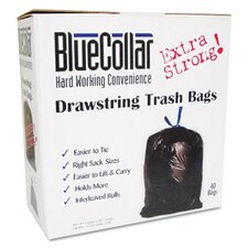 <strong>Unisan</strong> Bluecollar Drawstring Trash Bags, 40/Box