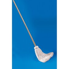Deck Mop with Wooden Handle and Cotton Fiber Head