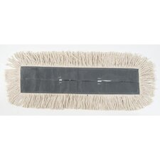 Cut-End Dust Mop Head in White