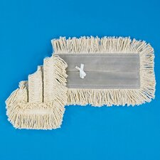 "<strong>Unisan</strong> 48"" x 5"" Dust Mop Head in White"