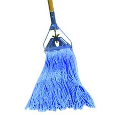 Cotton / Synthetic Fiber Cut-End Mop Head in Blue