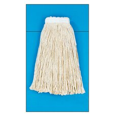 Cotton Fiber Cut-End Mop Head with Value Standard Head in White