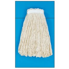 20 oz Cut-End Mop Head with Premium Standard Head in White