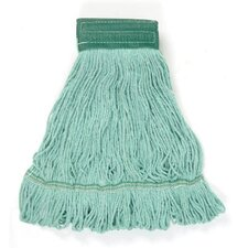 Medium Super Loop Mop Head in Green (Set of 13)