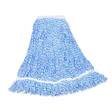 Large Floor Finish Mop Head in Blue Stripe