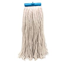 Economical Lie Flat Rayon Fibers Mop Head in White