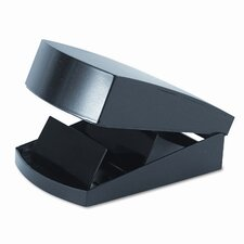 Covered Tray Business Card File Holds 250 2-1/4 x 4 Cards, Black