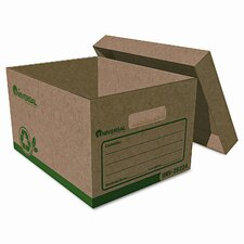 """Recycled Record Storage Boxes, Letter, 12"""" x 15"""" x 10"""", Kraft, 12/CT"""