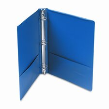 Suede Finish Vinyl Round Ring Binder, 1in Capacity