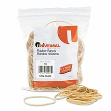 Rubber Bands, 400 Bands/0.25 lb Pack