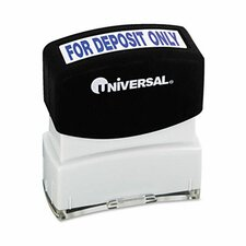 Message Stamp, for Deposit Only, Pre-Inked/Re-Inkable