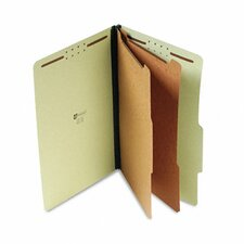 Pressboard Classification Folder, Legal, Six-Section, 10/Box