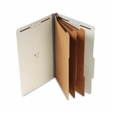 Pressboard Classification Folder, Legal, Eight-Section, 10/Box